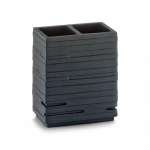 Suport negru din polirasina 10,1x11,5 cm pentru periuta dinti Schiefer Holder Zeller
