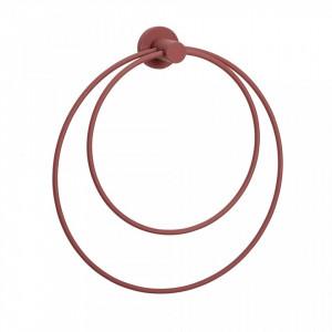 Suport rosu bordo pentru prosoape 26 cm din metal Bordeaux Hubsch