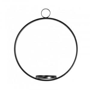 Suport suspendabil pentru lumanare negru din fier 37 cm Circle Ali Nordal