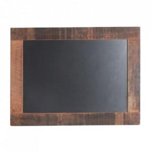 Tabla de scris neagra/maro din lemn reciclat 60x80 cm Manilla Raw Materials