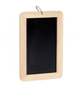 Tabla de scris neagra/maro din lemn si MDF 20x30 cm Roxy Hubsch