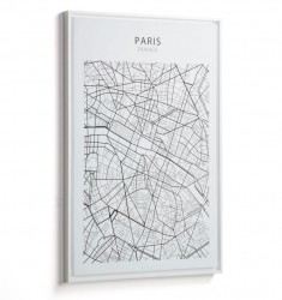 Tablou alb/negru din lemn 50x70 cm Uptown Paris La Forma