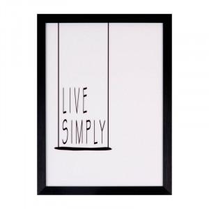 Tablou alb/negru din MDF si polistiren 30x40 cm Simply Somcasa