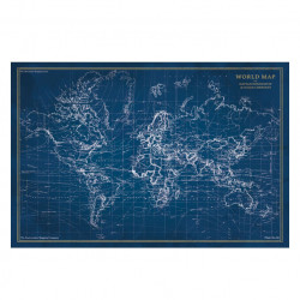 Tablou albastru din sticla 80x120 cm Map Signal Meble