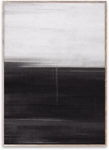 Tablou cu rama din lemn de stejar 50x70 cm Charcoal Paper Collective