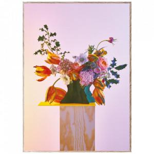 Tablou cu rama din lemn de stejar Bloom 08-Orange Paper Collective