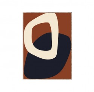 Tablou cu rama din lemn de stejar Solid Shapes 02 Paper Collective