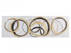 Tablou din lemn de pin 50x150 cm Circles Santiago Pons