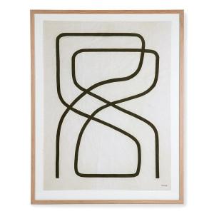 Tablou maro/negru din lemn si sticla 75x95 cm Benjamin Ewing HK Living