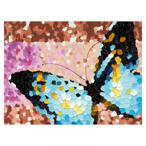 Tablou multicolor din canvas si lemn 90x120 cm Butterfly Ter Halle