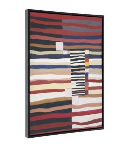 Tablou multicolor din lemn 50x70 cm Djelia La Forma