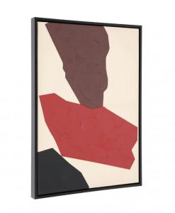 Tablou multicolor din lemn 50x70 cm Padia Kave Home