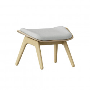 Taburet pentru picioare dreptunghiular gri argintiu/maro stejar din poliester si lemn 46x60 cm The Reader Umage