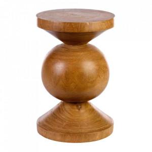 Taburet rotund maro din lemn 35 cm  Ball Pols Potten