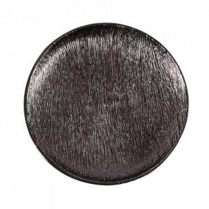 Tava decorativa rotunda neagra din aluminiu 29 cm Docas Zago