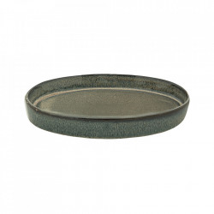 Tava ovala verde din ceramica 19x28 cm Zola Bloomingville