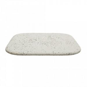 Tava patrata alba din ceramica terrazzo 30x1x30 Bloomingville