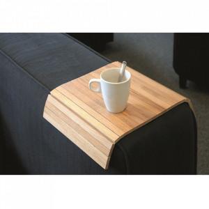 Tava pentru cotiera maro din lemn de stejar 32x46 cm Arm Rowico Home