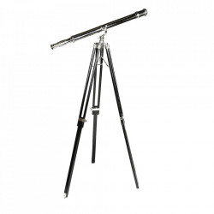 Telescop negru/argintiu din lemn si alama 154 cm Maritime Eichholtz