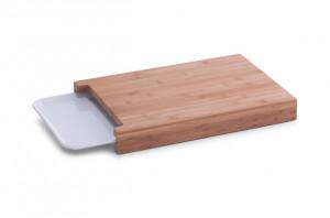 Tocator dreptunghiular maro din lemn si melamina 26x38 cm Melamine Tray Zeller