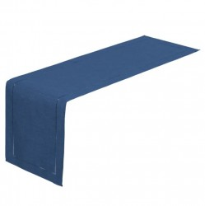 Traversa masa albastru inchis din poliester 41x150 cm Loving Griffin Unimasa