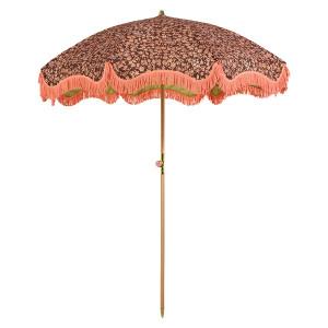 Umbrela pentru plaja multicolora din poliester si lemn Doris HK Living