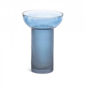 Vaza albastra din sticla 20 cm Bahie Kave Home
