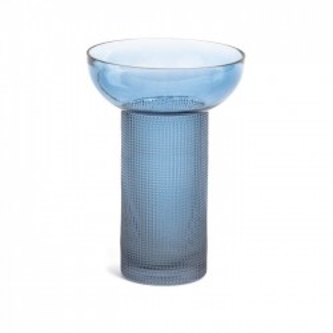 Vaza albastra din sticla 20 cm Bahie Large La Forma