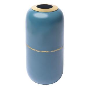 Vaza albastru inchis din metal 36 cm Olia Zago