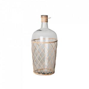 Vaza decorativa transparenta/maro din sticla 36 cm Alero Vical Home