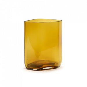 Vaza galbena din sticla 27 cm Silex Serax