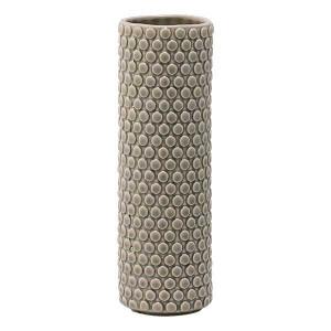 Vaza gri din ceramica 25 cm Cilinder Bloomingville