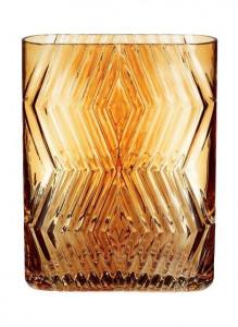 Vaza maro chihlimbar din sticla 23 cm Augustina Hubsch