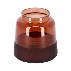 Vaza maro din sticla 15 cm Big Narela La Forma