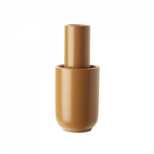 Vaza maro ruginiu din ceramica 18 cm Amel Woud