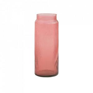 Vaza roz din sticla 38 cm Mariby Vical Home