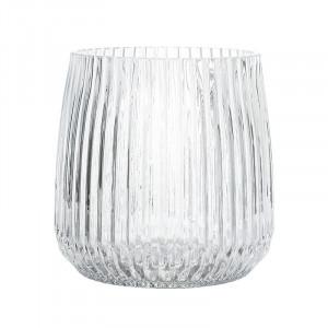 Vaza transparenta din sticla 17 cm Ramon Bloomingville