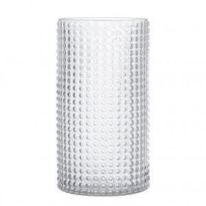 Vaza transparenta din sticla 30 cm Dots Bloomingville
