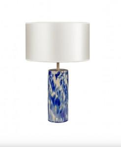 Veioza albastra/alba din ceramica 54,5 cm Ocean Lamp Versmissen
