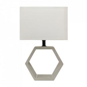 Veioza bej din PVC si beton 35 cm Vidal Candellux