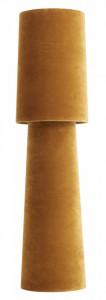 Veioza galbena din catifea si fier 75 cm Opus Mustard Nordal