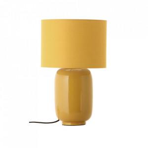 Veioza galbena din ceramica si bumbac 43 cm Cadiz Frandsen Lighting