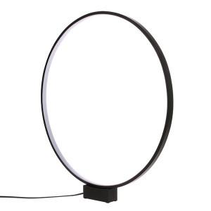 Veioza neagra din aluminiu 60 cm Circle HK Living
