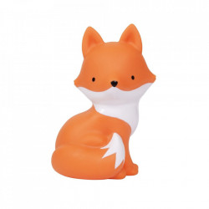 Veioza portocalie din PVC cu LED 15 cm Fox A Little Lovely Company