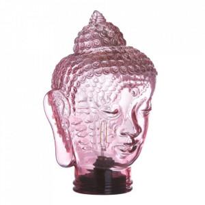 Veioza roz din sticla 30 cm Portabil Ixia