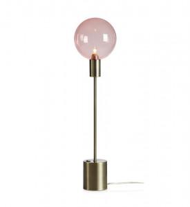 Veioza roz din sticla si metal 60 cm Uno Antique Markslojd