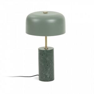 Veioza verde din marmura si metal Videl Kave Home