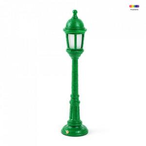 Veioza verde din rasina 42 cm Street Seletti