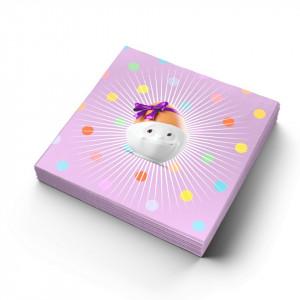 Set 20 servetele roz 25x25 cm Kid's B-Day Party Lilac Tassen