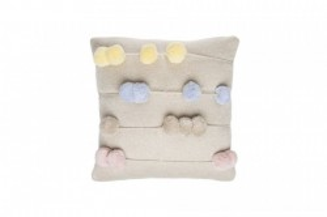 Perna decorativa patrata multicolora din bumbac pentru copii 30x30 cm Counting Frame Lorena Canals